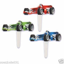 AUTO Racing Car Cupcake Picks 12pcs Cake Toppers Decorations