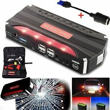 80000mAh Vehicle Car 12V Jump Starter Booster Battery Power Bank 4USB Charger KM