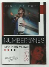 2011 Panini Michael Jackson King Of Pop Number Ones Platinum #187 (MAN IN MIRROR