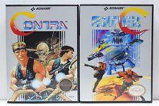 Contra 1 and Super C (Contra 2) NES Custom Game Cases - NO GAMES