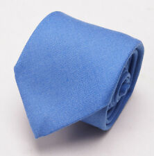 New $275 BATTISTI NAPOLI Slim Sky Blue 100% Cashmere Tie w/ Gift Box