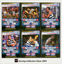 2001 Teamcoach Trading Cards Base Team set Geelong (6)