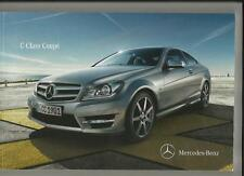 MERCEDES BENZ C-CLASS COUPE SALES BROCHURE DECEMBER  2011 FOR 2012 MODEL YEAR