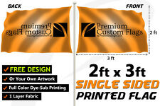 2'x3' Full Color Single Sided Custom Flag with Grommets