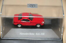 Herpa MB SLK 200 230 R 170 rot rouge rojo red NEW BOXED H0 1:87 Mercedes Benz