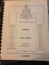 Defense Language Institute German Basic Course Vol 7 Lessons 66-72 U.S. Army