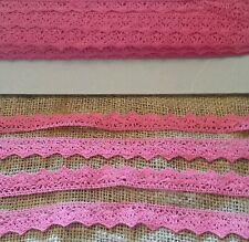 Hot pink cotton vintage lace braid trimming