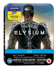 Elysium Limited Edition Steelbook Blu Ray in 4K New & Sealed. Ultraviolet