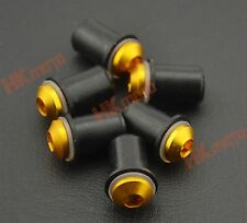 6 PCS Gold Windscreen Screws Bolts for SUZUKI GSXR 600/750/1000 SV 650S 1000S