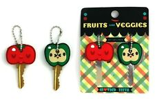 Crowded Teeth Fruits and Veggies Key Cap -2 Pack - (Apple & Tomato)