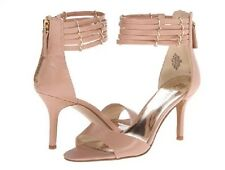 NINE WEST Ghadess Natural Nude Beige Open Toe ankle Strap Strappy 7 M New in Box