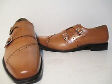 Giorgio Brutini Mens Carbonne Leather Double Monk Loafer Dress Shoes Tan 14 M