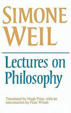 Lectures on Philosophy by Simone Weil (1978, Paperback)