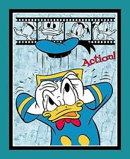"1 Disney Donald Duck ""Action"" Fabric  Panel"