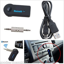 Mini Portable Autos SUV Wireless Bluetooth 3.5mm Aux Stereo Adapter Receiver Kit