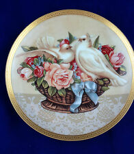 1992 limited edition glorida vanderbilt collection plate Romance in Bloom doves