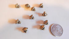 10 VINTAGE BRASS US MADE LOCKING PIN BACKS CLASP CLUTCH CATCH JEWELRY FINDINGS
