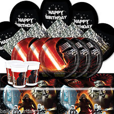 Star Wars Force Awakens Children's Birthday Party Balloon Tableware Pack For 16