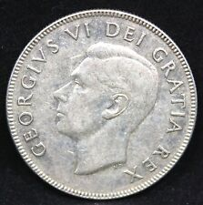 CANADA 1951 COIN (50) CENTS VF LARGE 51 SPACE