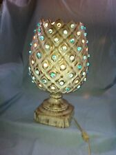 VINTAGE RETRO MID CENTURY CERAMIC PINEAPPLE TV LAMP HIPPIE COOL