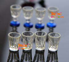 Dollhouse Miniature 1:12 Toy Kitchen 8 pcs of plastic Glasses Cups
