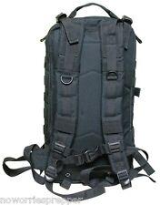 BLACK ASSAULT PACK - LARGE Survival EDC BUG OUT BAG Doomsday Prepper MOLLE PREP