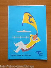 1964 LINEA COSTA CROCIERA MOTONAVE ANDREA C PROGRAMMA MENU NOTIZIARIO ANNI 60