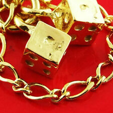 83 GENUINE REAL 14KT YELLOW ANTIQUE VERMEIL GOLD AUTHENTIC CHARM BRACELET BANGLE