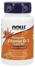 CHEWABLE Vitamin D-3 D3, 5000iu x120tabs - GREAT FOR KIDS!!!!