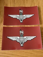 2X MILITARY ARMY LAND ROVER PARACHUTE REGIMENT BADGE DECALS