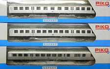 PIKO H0 - Silberlinge mit Steuerwagen + Zuglicht - 57667 + 57668 + 57669 - NEU