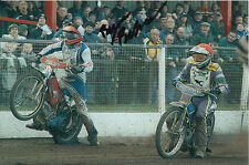 BYRON BEKKER HAND SIGNED SCUNTHORPE SCORPIONS SPEEDWAY 6X4 PHOTO 10.