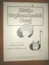LITTLE ORPHAN ANNIE'S SONG  by Harold Gray