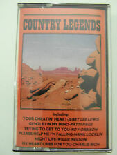 Country Legends - Various - Album Cassette Tape, Used Very Good