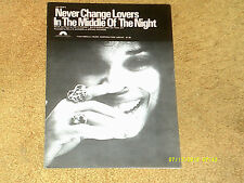 Millie Jackson sheet music Never Change Lovers in the Middle... 1978 6 pp. (VG+)