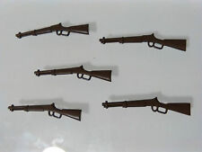 PLAYMOBIL LOTE 5 WINCHESTER FUSILES FUSIL RIFLE RIFLES WESTERN OESTE SUDISTAS