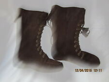 Preowned Women's Size 8 Tall Brown Suede L.L. Bean Leather Boots VN#05488