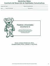 MacArthur Inventario Del Desarrollo de Habilidades Comunicativas (Inventario): I
