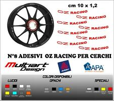 KIT 8 ADESIVI  OZ RACING PER CERCHI OZ STICKERS