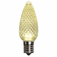 Box of 25 Warm White C9 LED Christmas Light Bulbs C9 Faceted LED Bulb Dimmable