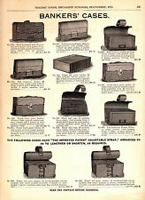 1893 Marshall Field Catalog Pg ~ Leather Bankers Carrying Cases ~ Dennison Tags