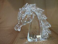 Vintage Murano clear glass Horse Head Sculpture Bust signed ZANETTI
