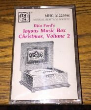 Rita Ford's Joyous Music Box Christmas Vol 2 Cassette New!