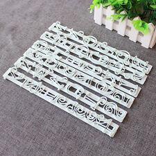 6X Alphabet Buchstaben Ausstecher Kekse Stempel Marzipan Fondant Ausstechform