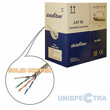 EASY PULL BOX OF 305m SOLID COPPER Ethernet Cable Reel Network LAN UTP CAT5e