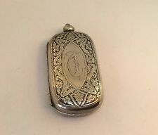 Antique Art Nouveau Sterling Hallmarked Monogrammed Coin Dance Card Holder