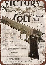 Colt M1911 Victory Vintage Look Reproduction Metal Sign 8 x 12 made in the USA