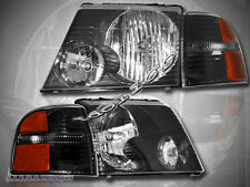 2002-2005 Ford Explorer Headlights + Black Corner Lights 4 PIECES SET 2003 2004