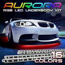 "7 Color LED Car Under Glow Underbody Neon Light Strip Kit A - 2x 48"" & 2x 36"""