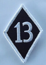 13 diamond embroidered cloth patch.  A020102